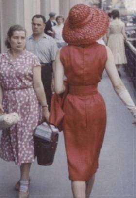 Vogue Dior en Russie 1956.