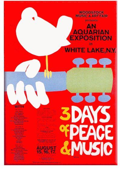 Woodstock 1969, affiche originale du Festival AURORAWEBLOG.