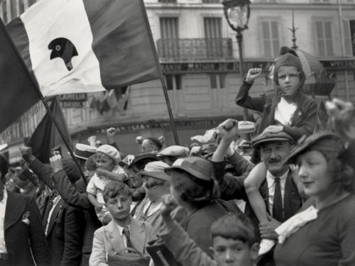 Willy Ronis Le Front Populaire 14 juillet 1936.