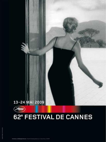 """Affiche Festival de Cannes édition 2009 composée par la graphiste Annick Durban Monica Vitti dans """"L'Avventura"""" de Michelangelo Antonioni."""
