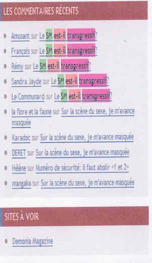 Agnès Giard Blog Les 400 culs cache Google du 30 avril 2009 commentaires validés puis supprimés de la note Le SM est-il transgressif?
