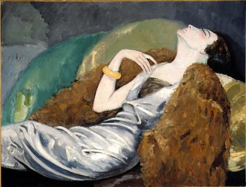 Kees Van Dongen La femme au canapé.