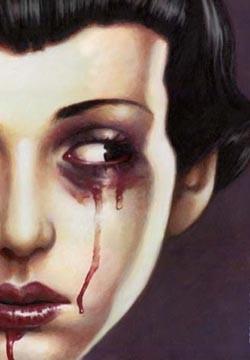 AURORAWEBLOG Larmes de sang, dessin de Trevor Brown.