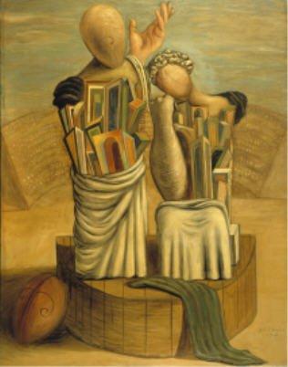 Metafisica Giorgio De Chirico La Comédie et la Tragédie 1926