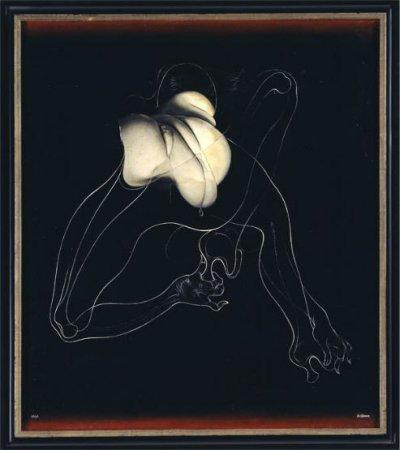 Unica ligotée affiche de l'exposition Hans Bellmer Anatomie du Désir Centre Georges Pompidou Paris 2006