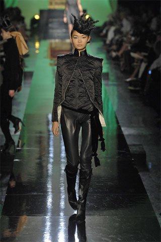 Pantalon Culotte Cuir Noir Jean-Paul Gaultier Défilé 4 juillet 2007