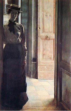 Giacomo Balla Elisa à la porte 1904