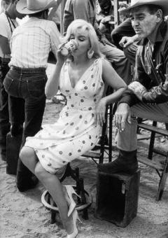 Marilyn Monroe et Clark Gable sur le tournage des Misfits de John Huston