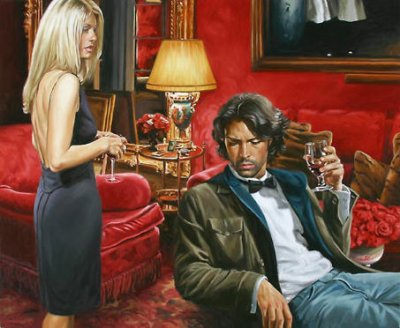 Terry Rodgers Painting Redroom