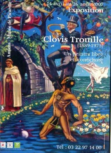 Affiche Exposition Clovis Trouille Amiens 2007