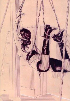 BDSM et Bondage une suspension dessinée par Frédéric Poincelet