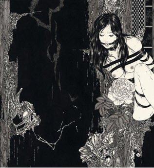 BDSM, Bondage, Ink on Paper, Seductive Rose, Takato Yamamoto