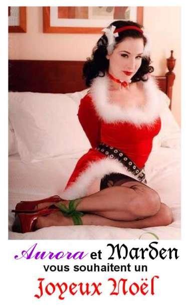 AURORAWEBLOG Dita Von Teese Christmas bondage