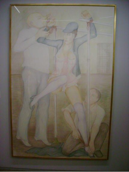 BDSM érotisme contrainte Les Barres parallèles tableau de Pierre Klossowski