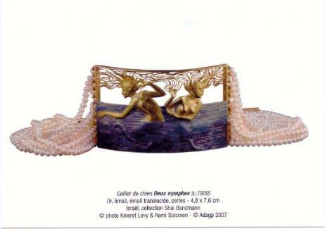 René Lalique Collier de chien Exposition Bijoux d'Exception Paris 2007