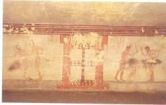 La tombe dite della Fustigazione dans la Nécropole Monterozzi à Tarquinia