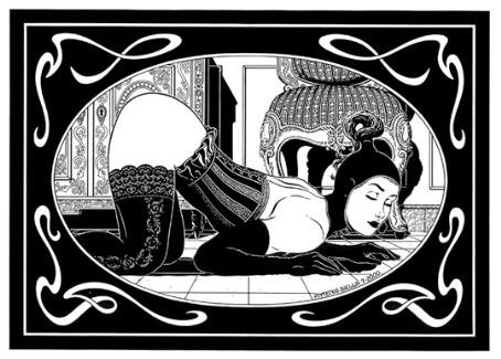 BDSM Art Antonio Biella Soumise Agenouillée