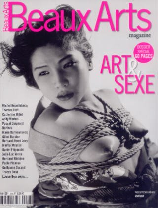 Nobuyoshi Araki Bondage couverture de la revue française Beaux-Arts août 2007