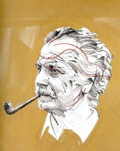 Timbre Georges Brassens Raymond Moretti