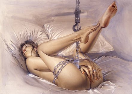 BDSM Hajime Sorayama Submissive and Chains
