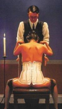 BDSM erotic scene Jack Vettriano