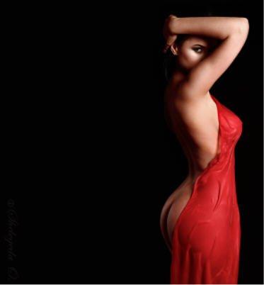 BDSM, soumise robe rouge